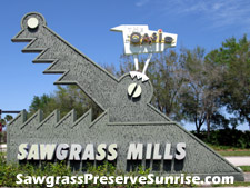 Great bargains are just outside your front door at Sunrise's famous Sawgrass Mills outlet mall.